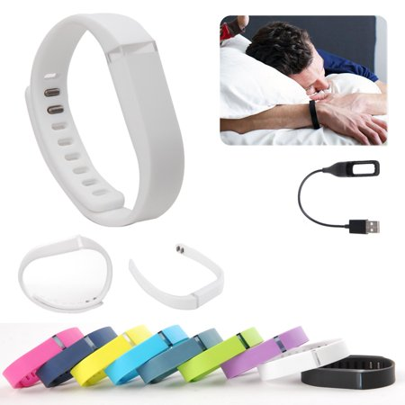 EEEKit for Fitbit Flex Wireless Activity Sleep Wristband, Replacement Wrist Band Clasp, USB Charger Charging Cable