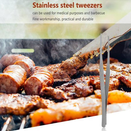 Stainless Steel Long Straight Forceps Tweezers for Medical Purposes and BBQ - image 5 of 5