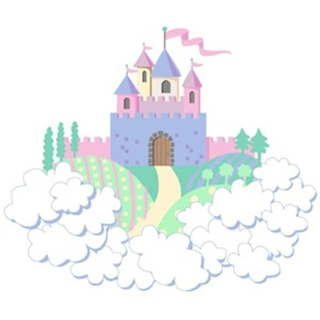 Elephants on the Wall 5-1224 Princess Castle- Small - Paint It Yourself