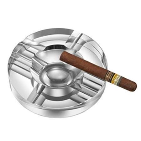 Visol VASH305 Visol Elara Round Crystal Cigar Ashtray ()