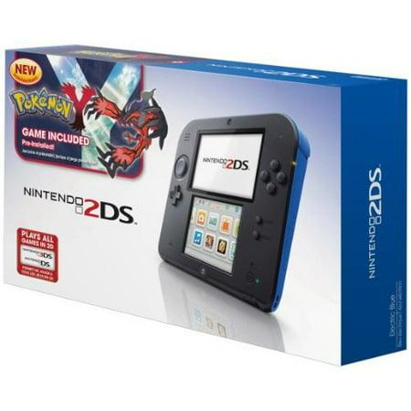 Refurbished Nintendo 2DS Handheld Gaming System With Pokemon Y Blue