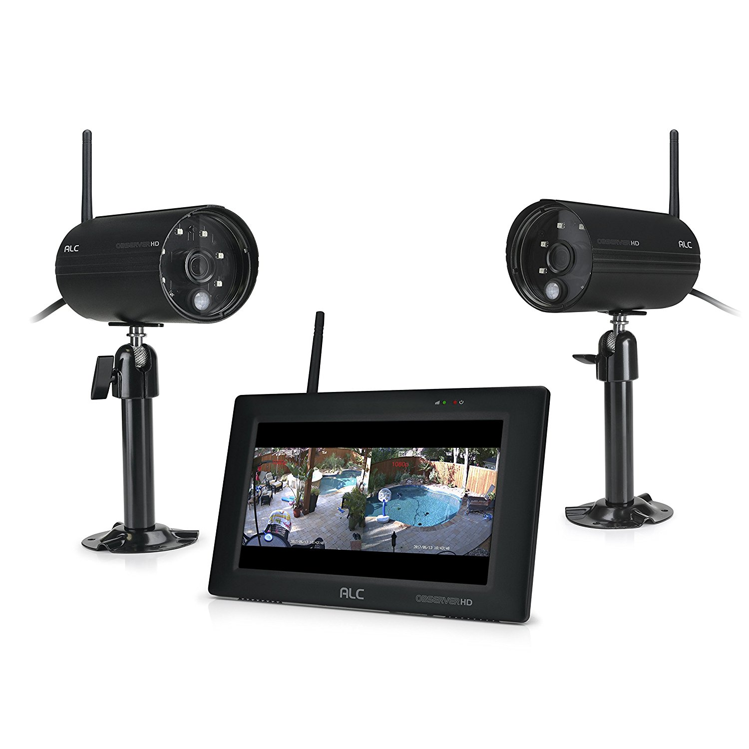 ALC 1080p Surveillance System 7� touchscreen System with 2 Cameras by ALC