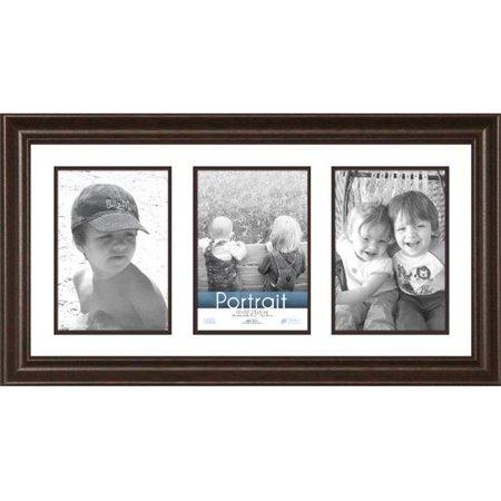 Timeless Frames 45286 Lauren Collage Dark Mahogany Wall Frame, 10 x 20 in. ()
