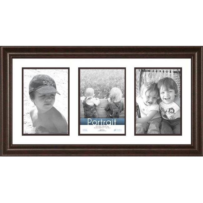 Timeless Frames 45286 Lauren Collage Dark Mahogany Wall Frame, 10 x 20 in.
