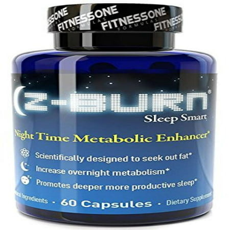 Z-burn -- 60 Veggie Capsules -- Night Time Fat Loss Supplement -