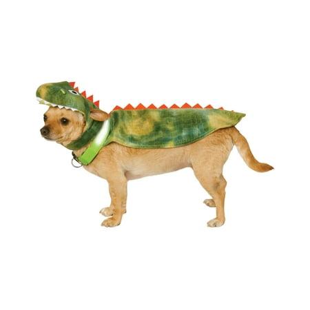 Flintstones Dino Pet Costume (Pet Light Up Dinosaur T-Rex Dog Cat Cape With Headpiece Costume)