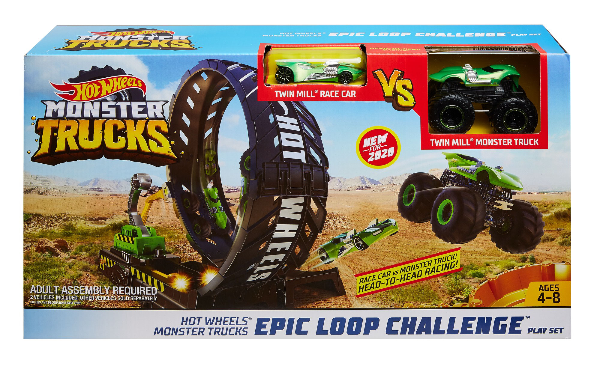 Hot Wheels Monster Trucks Epic Loop Challenge Playset Walmart Com Walmart Com