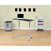 Calico Designs Sierra Adjustable Height Sit-to Stand Desk in White / Cherry # 51231