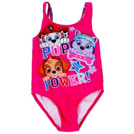 5bbc7aeef4 Dreamwave - PAW Patrol Toddler Girls' One Piece Swimsuit Skye, Marshall  Everest - Pup Power Pink - Walmart.com