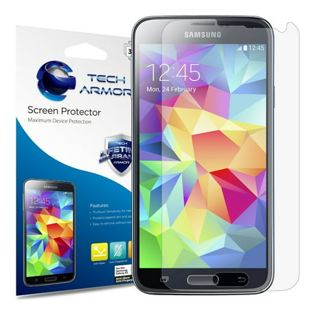 - Tech Armor Samsung Galaxy S5 Anti-Glare/Anti-Fingerprint (Matte) Screen Protectors [3-Pack]