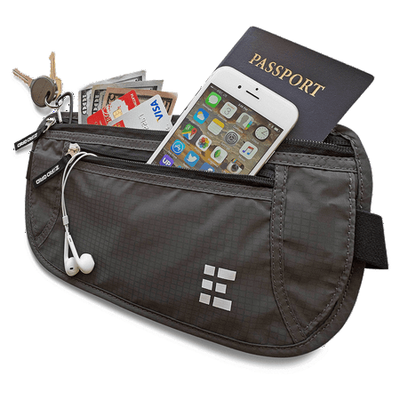 RFID Blocking Travel Money Belt~Shadow