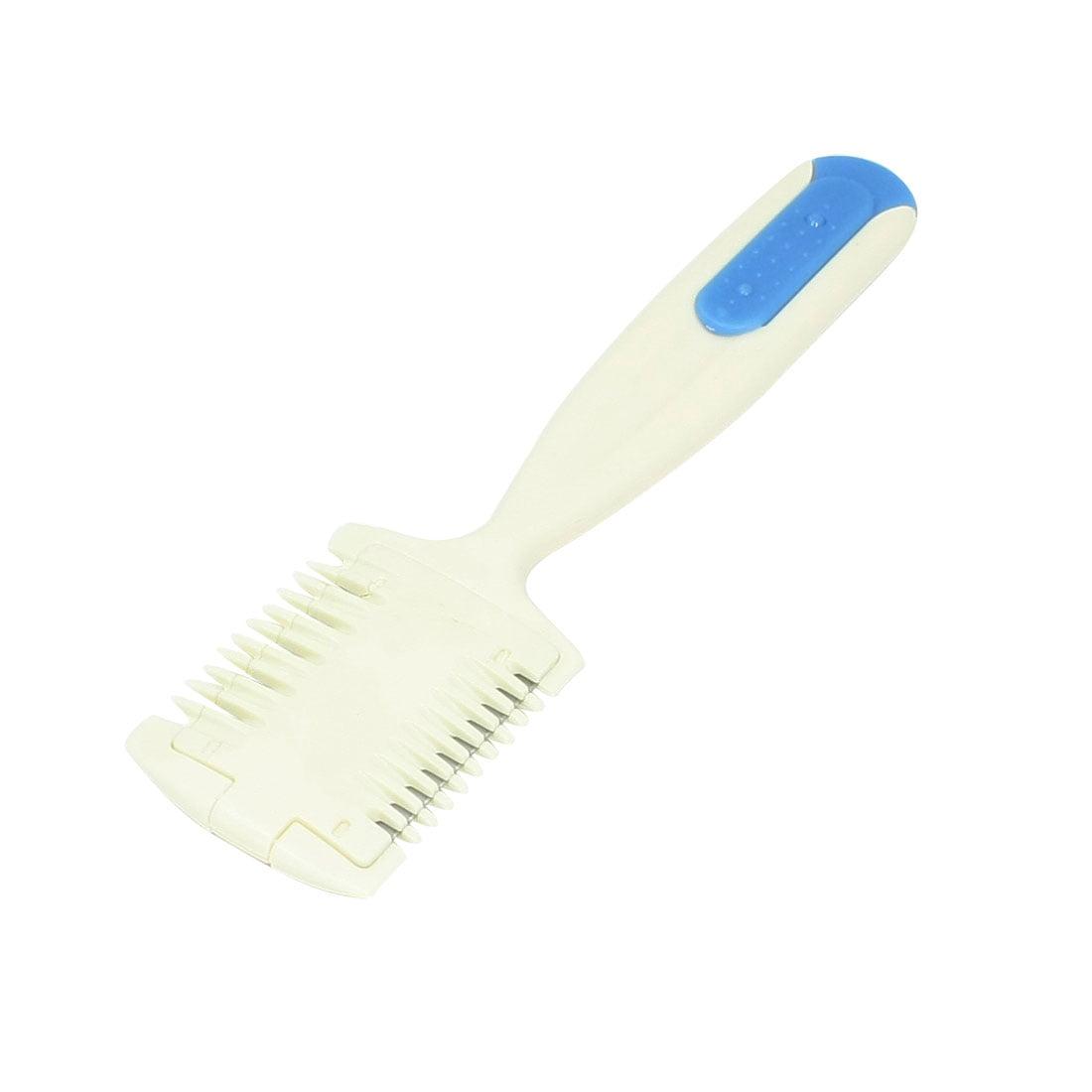 2 blades hair cutting thinning comb razor bangs trimmer beige
