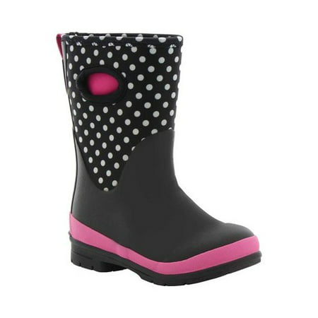 Western Chief Girls' Chloe Dot Neoprene Boot (Copper Tan Neoprene Boots)
