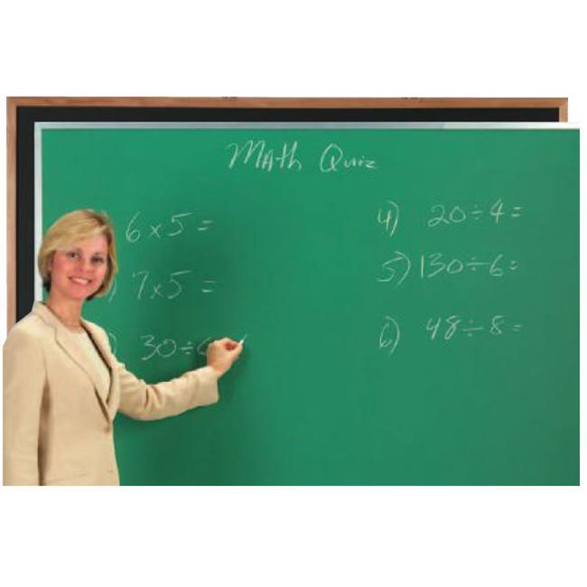 Aarco Products OC3660G Composition Chalkboard Satin Anodized Frame - Green