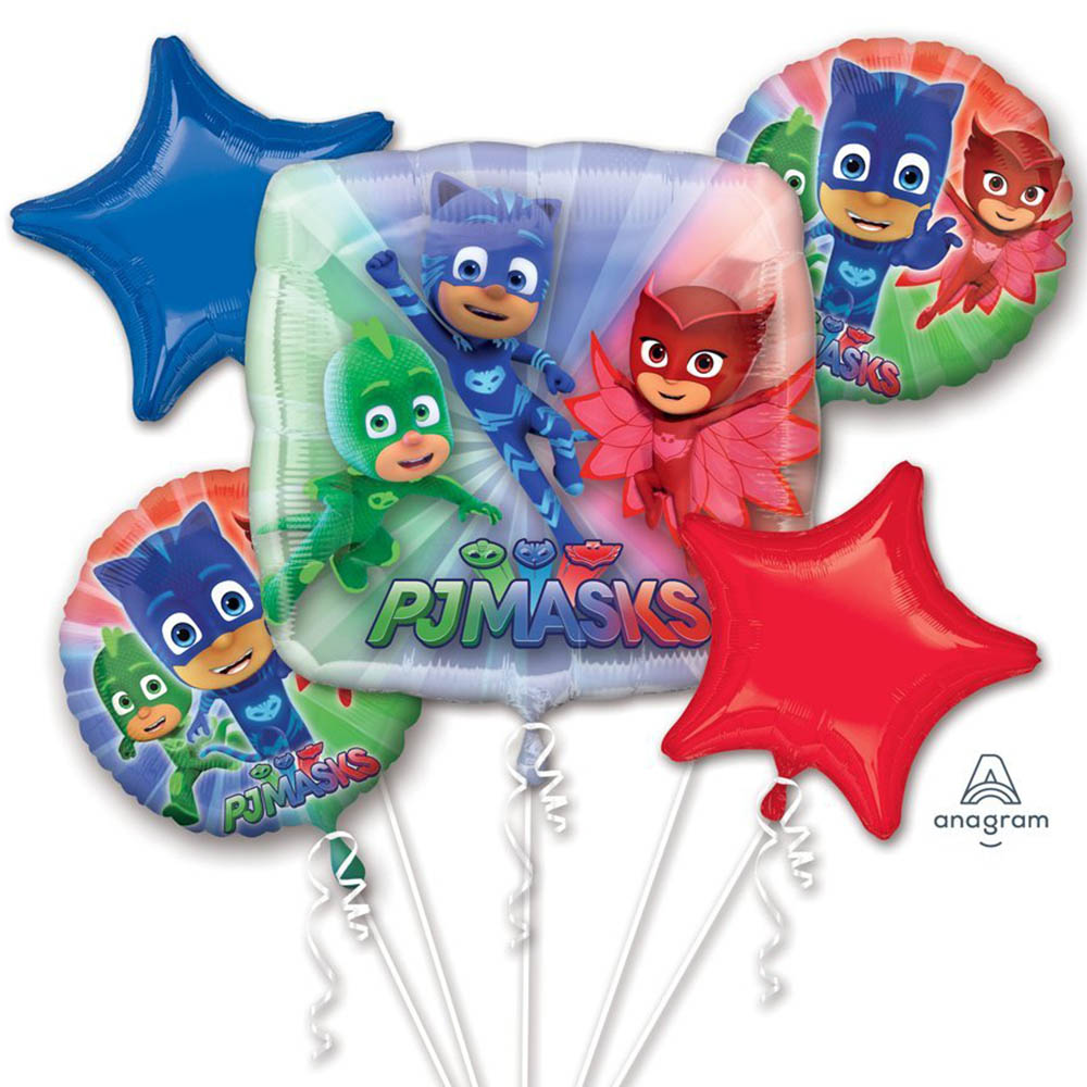 PJ Masks Character Authentic Licensed Theme Foil Balloon Bouquet