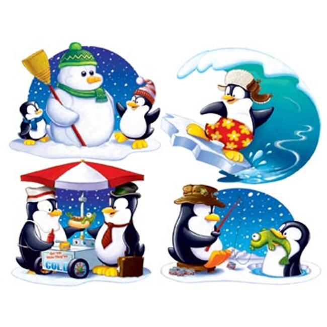 Beistle - 22274 - Penguin Cutouts- Pack of 12