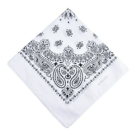 Men Women Square Scarf Paisley Bandana Hair Band Neckerchief Hip Hop Kerchief Unisex (Paisley Neckerchief)