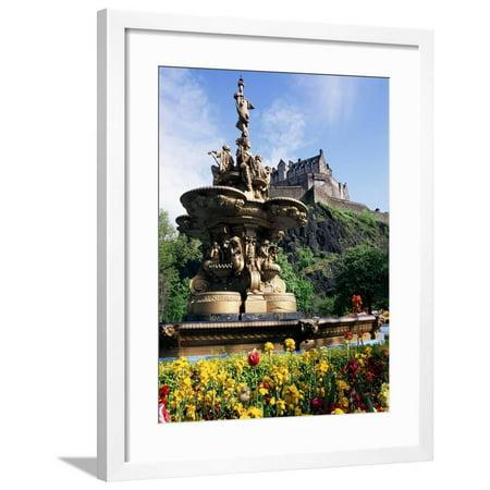 Castle and Princes Street Garden Fountain, Edinburgh, Lothian, Scotland, United Kingdom Framed Print Wall Art By Neale Clarke](Fountain Valley Halloween Street)