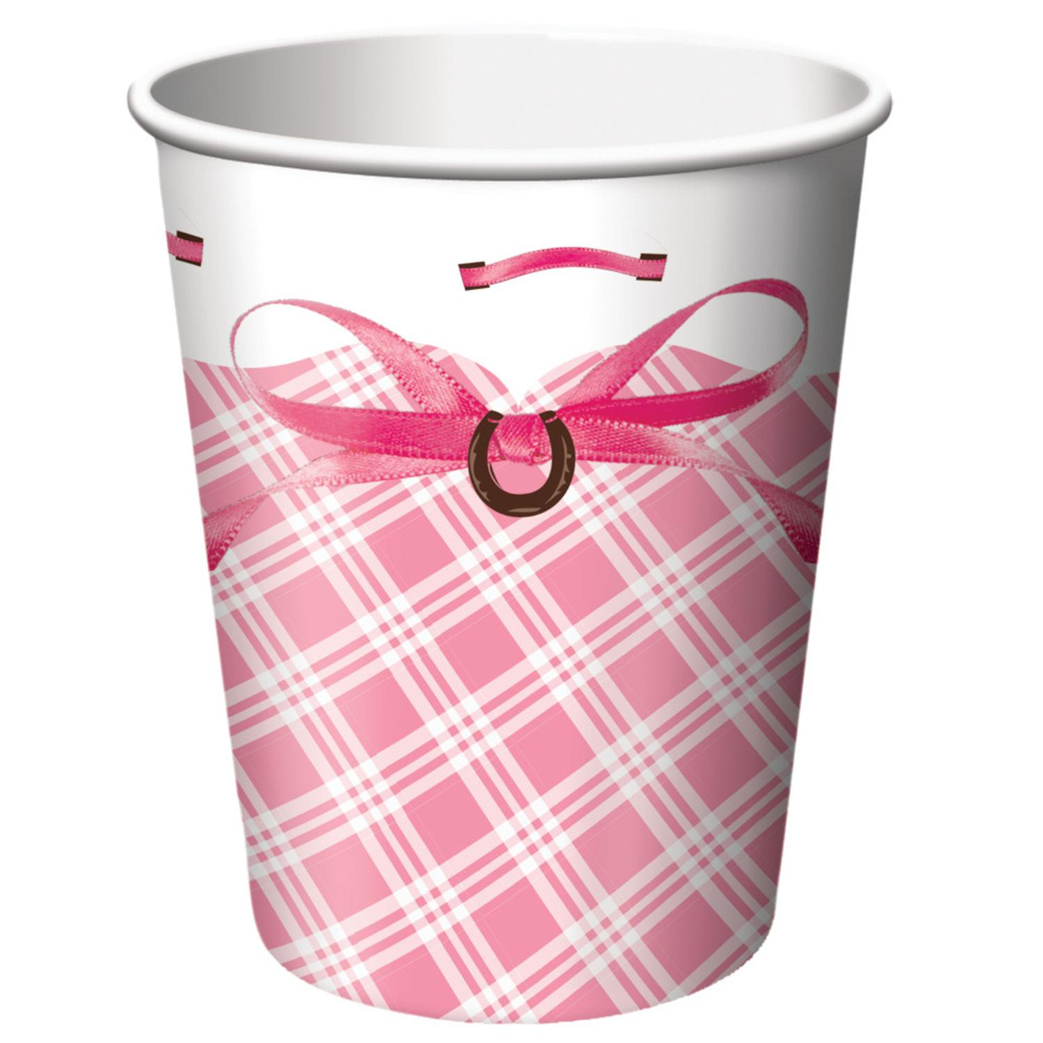 Club Pack of 96 Heart My Horse Disposable Paper Hot and Cold Drinking Party Cups 9 oz.