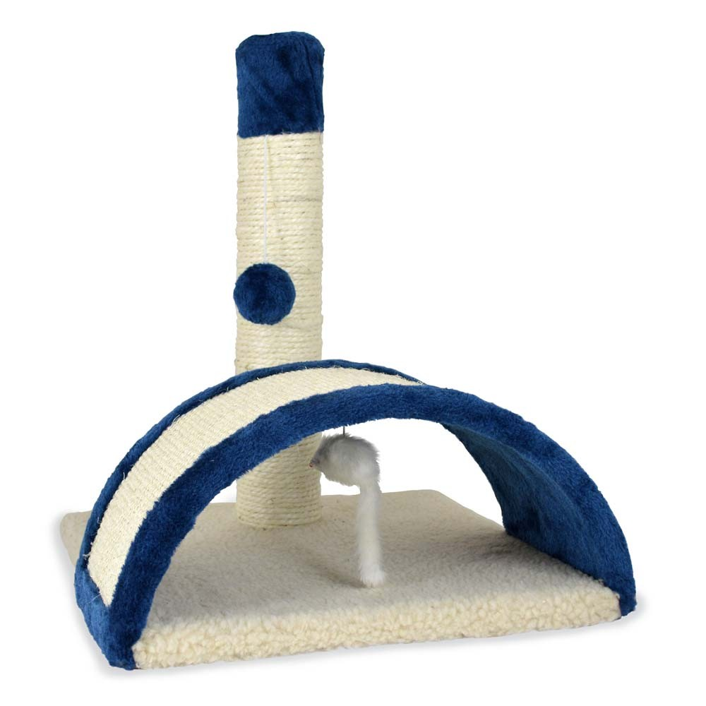 PetZone Multi Textured Beam and Bow Cat Scratcher Toy