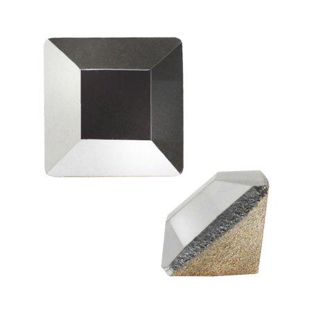 Swarovski Crystal, #4428 Square Fancy Stone 4mm, 12 Pieces, Crystal Light Chrome F