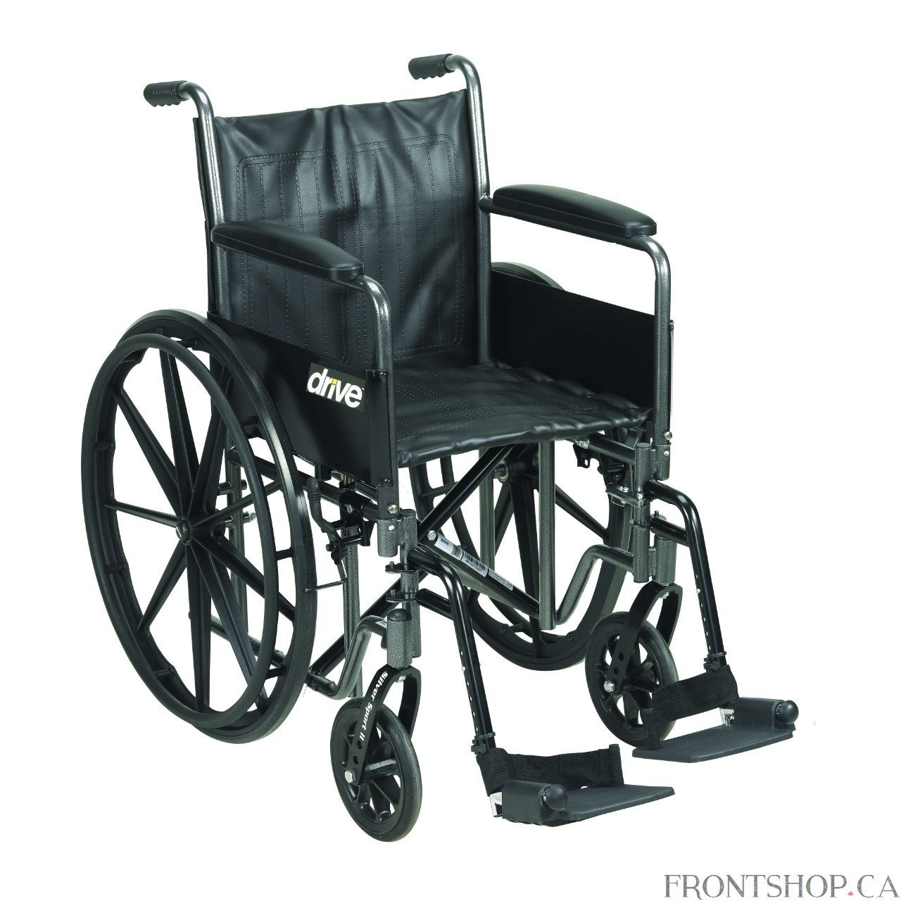 """Silver Sport 2 Wheelchair, Detachable Full Arms, Swing away Footrests, 18"""" Seat -  - image 1 of 1"""