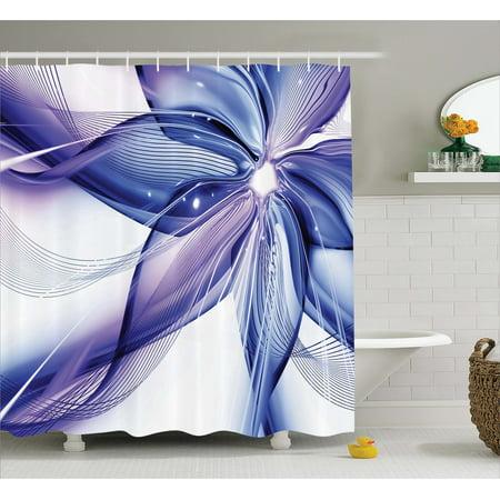 Purple Flower Design Bathroom Shower Curtains With Hooks Bath Curtain Accessories China Mainland