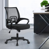 Easyfashion Mid-Back Office Chair Ergonomic Desk Chair with Armrest