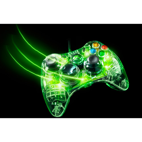 Xbox 360 Afterglow Controller, Green (Xbox 360)
