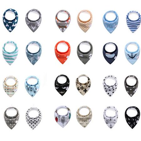 Baby Bandana Drool Bibs for Boys,Girls,Unisex 4 Pack by Akoyovwerve - Bandanas For Sale