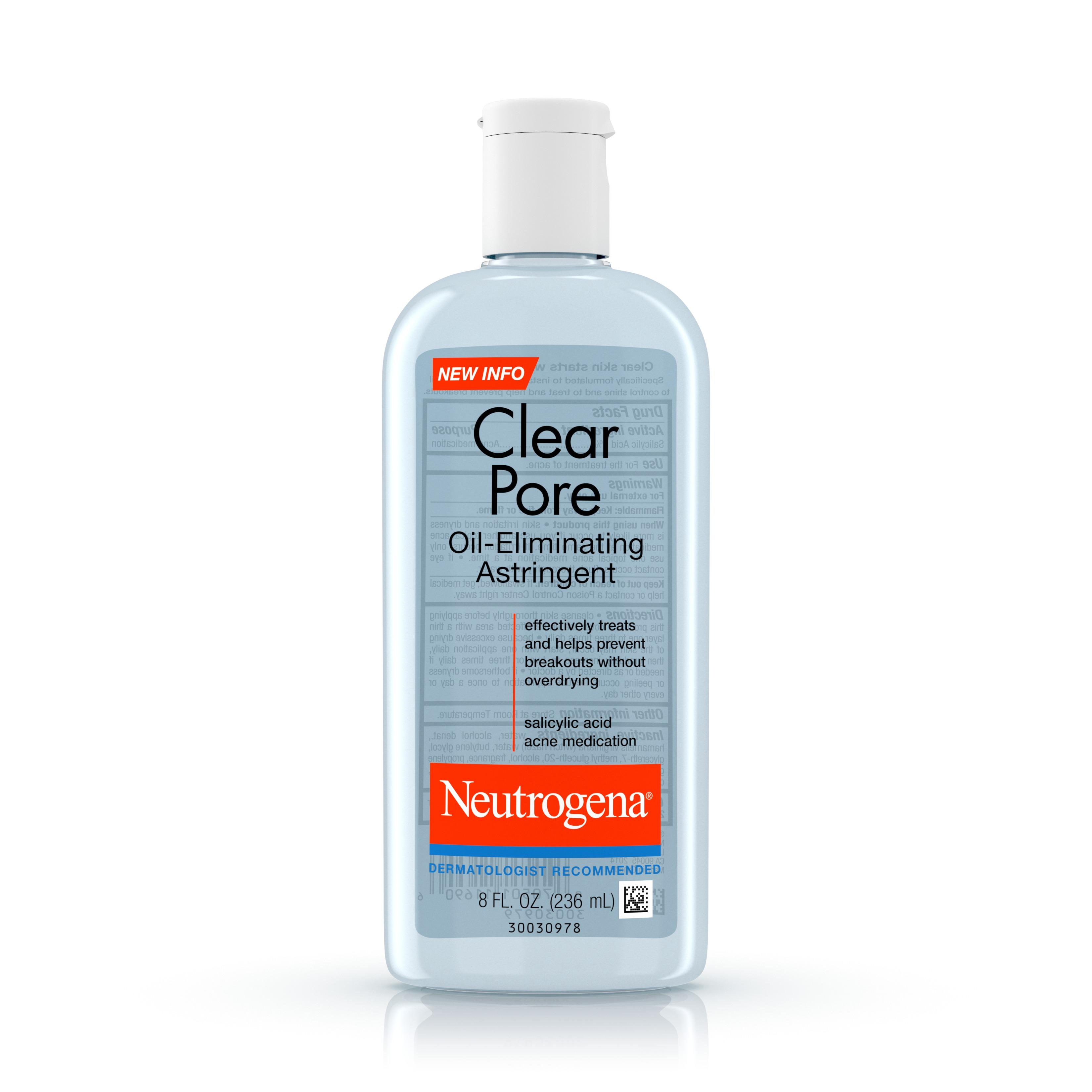 Neutrogena Clear Pore Oil-Eliminating Astringent With Salicylic Acid, 8 Fl. Oz. - Walmart.com