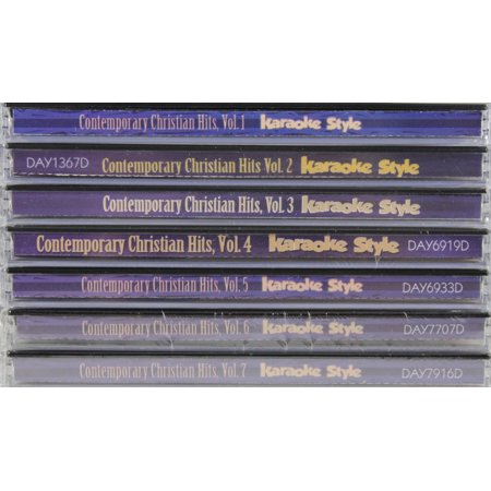 Contemporary Christian Hits Karaoke Volumes 1-7 CD Set