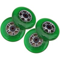 4 GREEN Wheels W/Abec 7 Bearings for RAZOR SCOOTERS