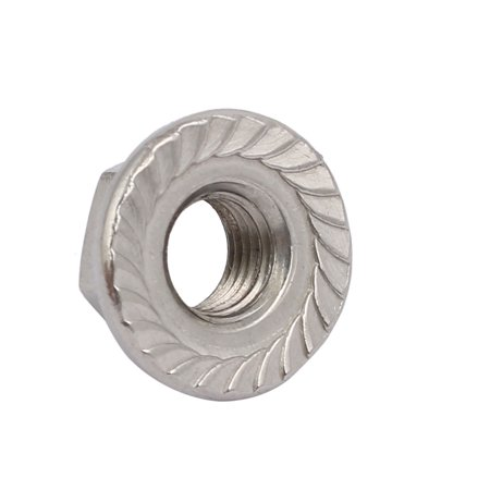 8pcs M8 x 1mm Pitch Metric Fine Thread 304 Stainless Steel Hex Flange Nut - image 1 of 4