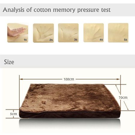 Memory Foam Dog Pet Bed Mat Orthopedic Extra Large Paws Kennel Cushion Winter Warming Pad Rug Cover Removable 39*28*2 Inch  - image 2 of 8
