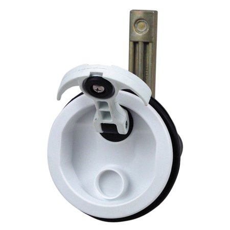 Perko 1092DP1WHT White T-Handle Surface Mount Latch - 3/4
