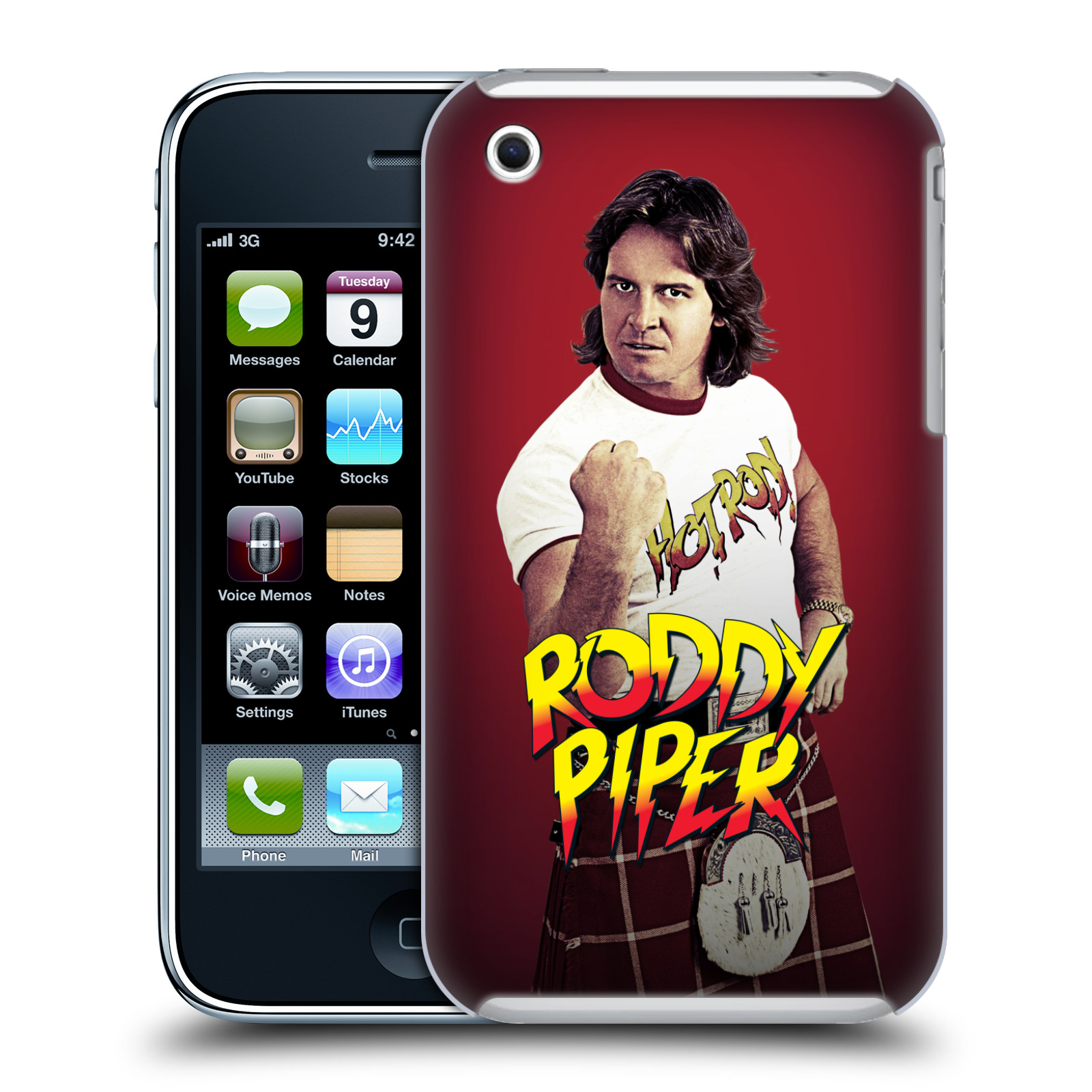 OFFICIAL WWE ROWDY RODDY PIPER HARD BACK CASE FOR APPLE IPHONE PHONES