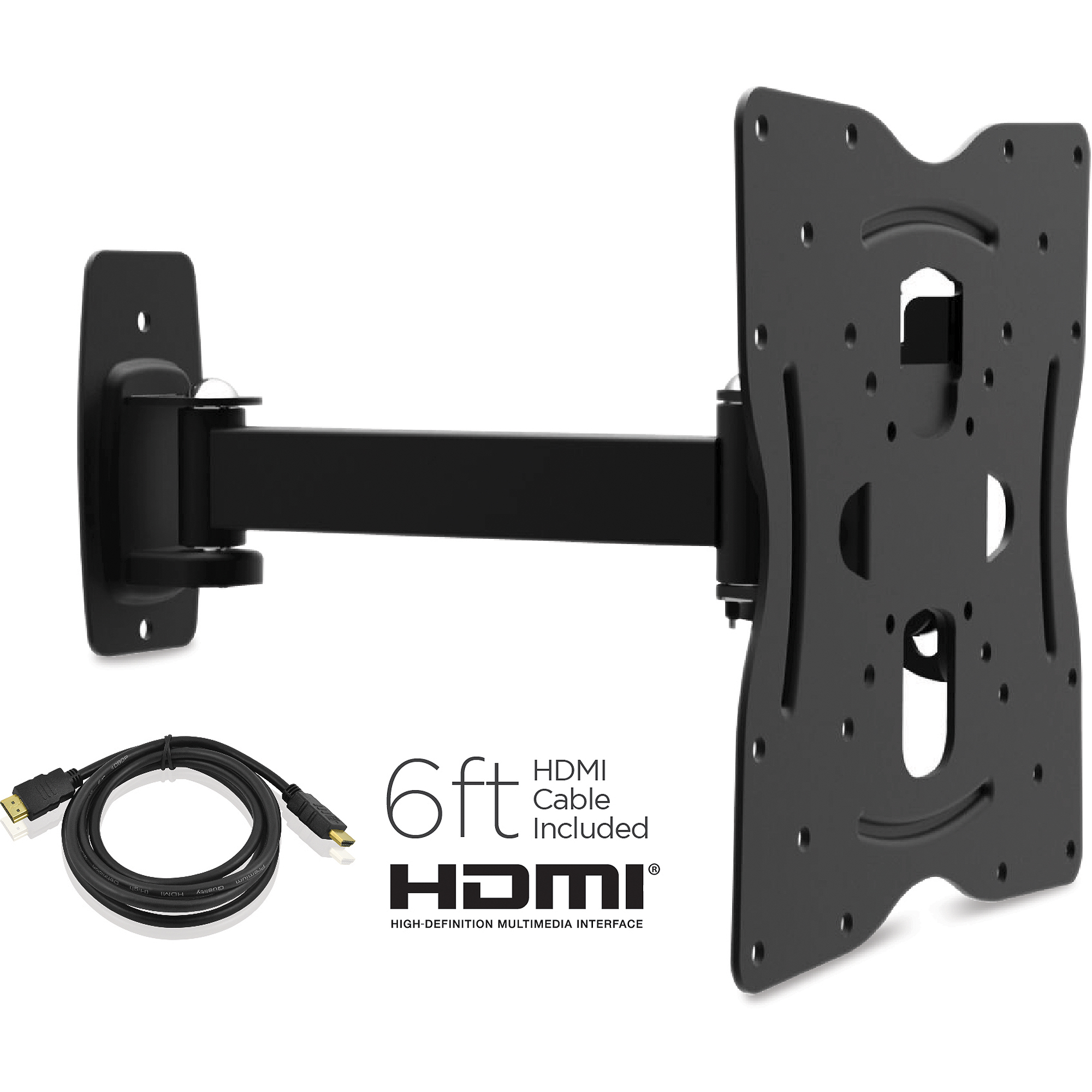 Fleximounts Full Motion Articulating Tv Wall Mount Bracket Tilt Swivel Fit For 32 60 Flat Screen