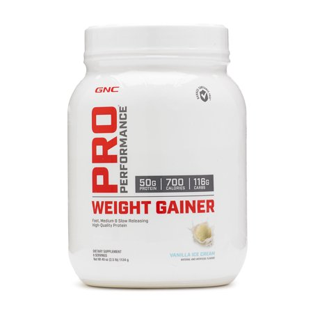 GNC Pro Performance Weight Gainer - Vanilla Ice Cream, 6 Servings, High-Quality Protein to Increase Mass Pretzel Ice Cream