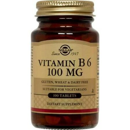 Vitamine B-6 100mg Solgar 100 Tabs