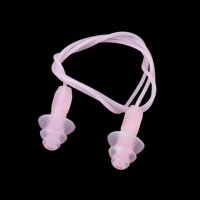 Unique Bargains 3 Pairs Soft Silicone Water Block Corded Swimming Earplugs Ear Plugs Pink