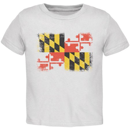 Born and Raised Maryland State Flag Toddler T