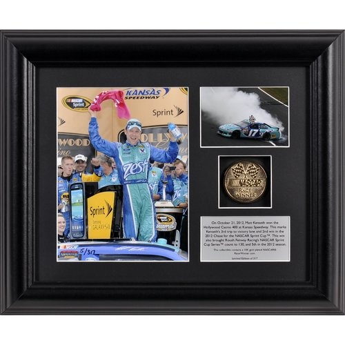 Mounted Memories NASCAR Matt Kenseth 2012 Hollywood Casino 400 Race Winner Framed Memorabilia