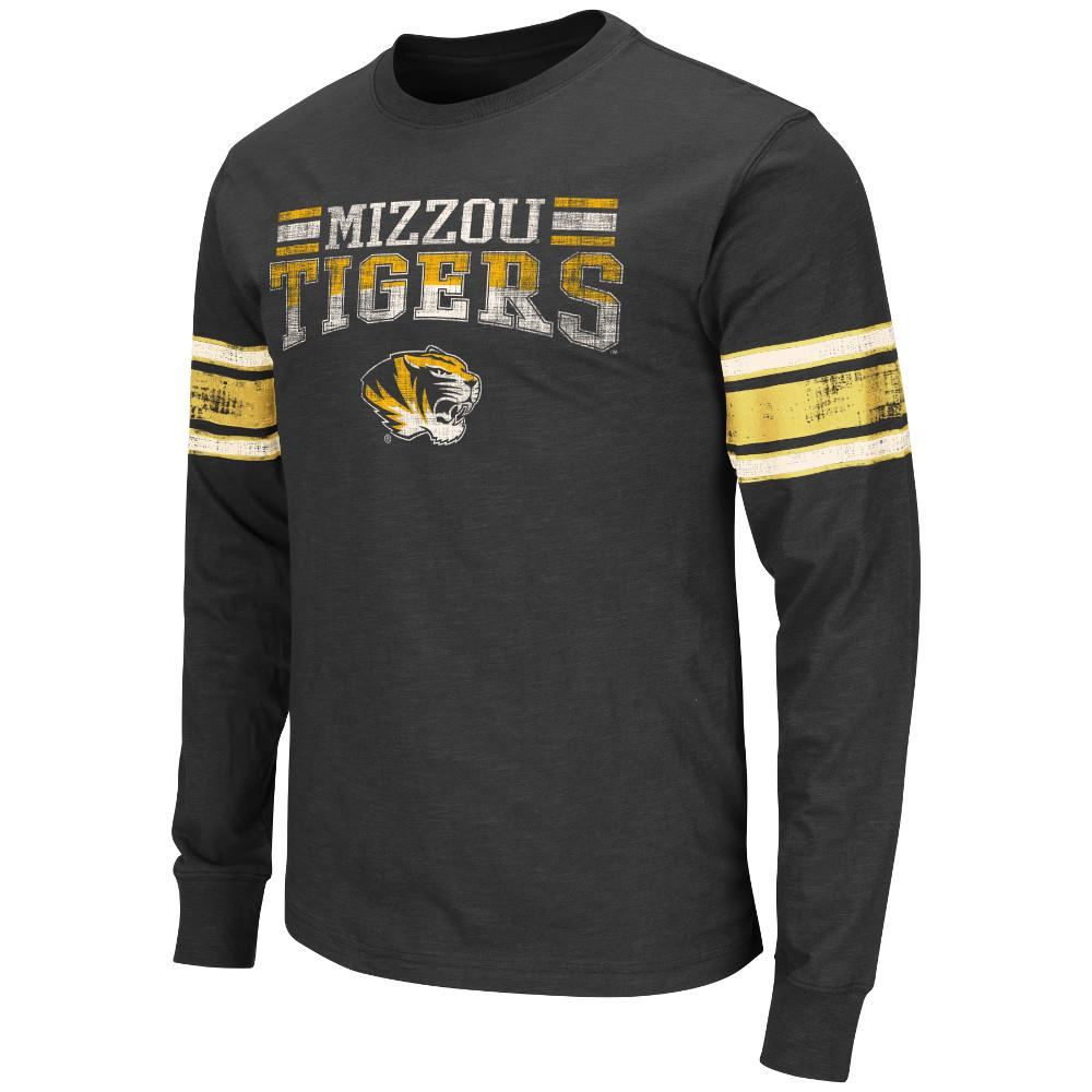 Mens NCAA Missouri Tigers Long Sleeve Tee Shirt (Team Color)