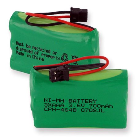 Empire CPH-464B 3.6V 1 x 3 in. 3 AAA Nickel Metal Hydride Battery 700 mAh & B Connector - 2.52 -