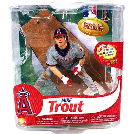 Mike Trout  California Angels  Action Figure Gray Retro Jersey Mlb