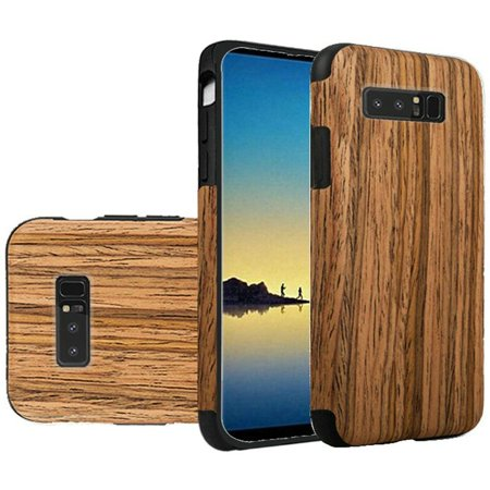 Samsung Galaxy Note 8 Case, by Insten Wood Grain TPU Rubber Candy Skin Case Cover For Samsung Galaxy Note 8 - (Nose Wood)
