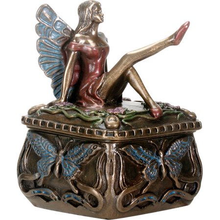 - Ebros Gift Decorative Butterfly Fairy Jewelry Trinket Box Small 3.25