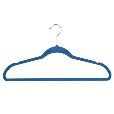 Flocked Hangers (Honey Can Do Flocked Suit Hanger, Blue (Pack of 25) )