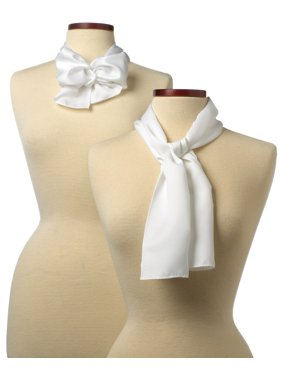 10x54 Solid Color Silk Scarf - White